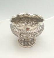 Antik ezüst kézzel készített kínáló