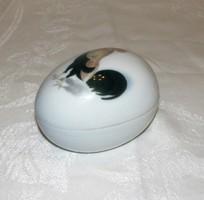 Antik tojás bonbonier, ékszertartó Gebrüder Heubach porcelán