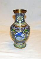 Rekeszzománc váza 18,5 cm