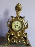 Franciaország 1800-as évek.Aranyozott bronz-porcelán óra