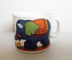 Zsolnay retró elefántos mesecsésze