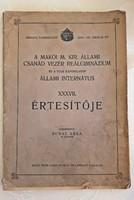 A Makói Állami Internátus értesítője 1931-1932 iskolai év
