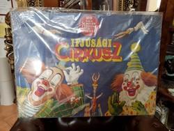 25 éves a Magyar Cirkusz és Varieté - Ifjúsági cirkusz régi plakát az  1970-es évekből