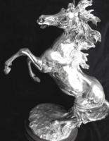 Óriási ezüstözött ló Venezia- Italia