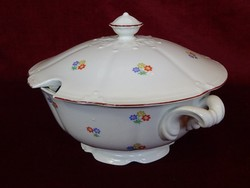 Drasche porcelán étkészlet, Antik, Apró virágmintás.