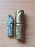 Antik Szent Szobrocska Kis Kapszulában
