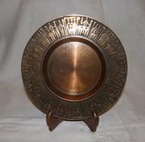 Retro bronz falitál / falidísz jelzett MALÉV és a készítő jele
