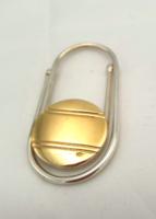 AJÁNDÉKNAK ezüst pénzcsipesz arannyal 925-ös