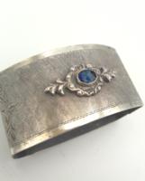 Köves ezüst szalvétagyűrű