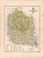 Bács - Bodrog megye térkép 1886 (4), vármegye, atlasz, Kogutowicz Manó, 43 x 55 cm, Gönczy Pál