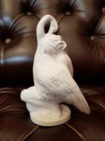 Melocco Miklós Léda a hattyúval jelzett biszkvit porcelán szobor