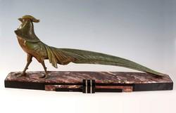 Art deco fácán szobor