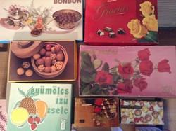 Retro bonbonos dobozok