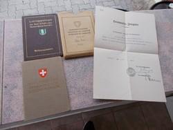 Eredeti Svajci szemelyesen dokumentum,1938-1944