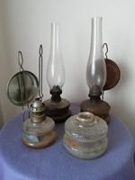 Régi petróleum lámpa csomag