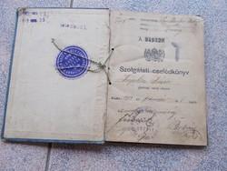 Szolgálati cselédkönyv, 1918.