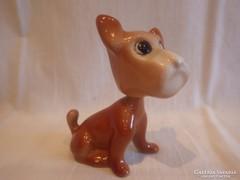 Mozgó fejű porcelán kutya szobor
