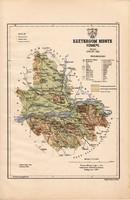 Esztergom megye térkép 1887 (4), Magyarország, vármegye, atlasz, eredeti, Kogutowicz Manó, 28 x 43