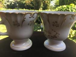 """""""PEDROCCHI""""2 db kávéscsésze -háború előtti -a GINORI  gyárban,Doccia készült"""