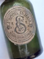 Régi kis üveg Schimmel és Társa Rt. Budapest-Rákosfalva illatszeres palack
