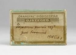 0Y347 Antik gyógyszeres doboz papír doboz 1918