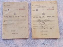 Vásárlási könyv,1940.   két darab