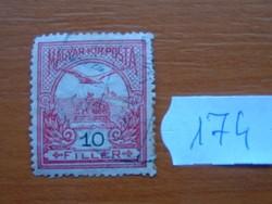 10 FILLÉR 1900- Turul a Szent István korona felett 174#