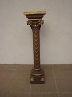 Tiszta fa antik posztamens-virágtartó