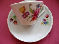 Virágcsokros retro mokkás csésze