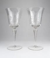 0Y357 Régi art deco talpas pezsgős poharak
