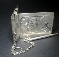 Antik szadadfordulós szecessziós ezüst táncrend