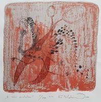 Kő Boldizsár - A móri pávakakas 33 x 33 cm színes szita