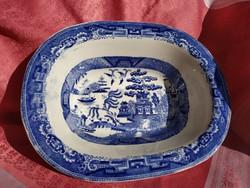 Antik angol porcelán kínáló tál