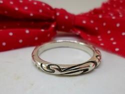 Szép régi virág motívumos ezüst karikagyűrű