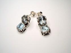 Art Deco megjelenésű régi topáz köves ezüst fülbevaló