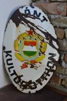 Kádár címeres Gánti zománcozott fémtábla