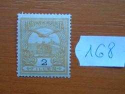2 FILLÉR 1900- Turul a Szent István korona felett 168#