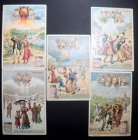 Liebig húskivonat  1900 körüli reklámkártya lito kártyák- RITKA!