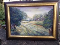 Erdei út kortárs festmény