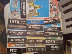 Magyar városok régi térképei