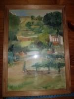 Remek akvarell, keretben, azonnal falra helyezhető állapotban, szignós