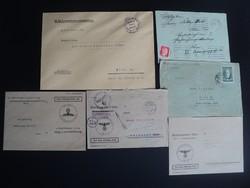 II.Világháborús levél borítékok  három darab birodalmi sasos