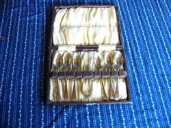 A03 Nickel Silver (nikkel ezüst) teáskanál készlet + cukorfogó