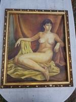 Orosz festő aktja, vásznon, a hozzá illő kerettel, 60x70+keret