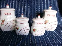 A03 Román porcelán fűszeres, fűszertartó 4db