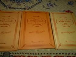3 db daloskönyv kottával 1961-1963-1965 Legnépszerűbb tánc, operett, és filmdalok