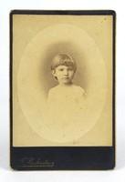 0Y386 Antik Rechnitzer fotográfia gyerek portré