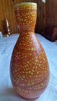 Retro  Narancs színű Gorka kerámia váza eladó!