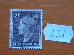 LUXEMBURG 2 F 1948–1951 Charlotte nagyhercegnő 231#