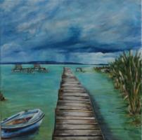 Balaton - Lóg az eső lába